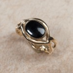 14k yellow gold black onyxB2-160