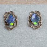 14k yellow gold boulder opal B4-119