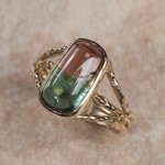 14k yellow gold bi colored tourmaline B6-173