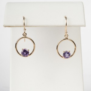 14k yellow gold amethyst C3-09
