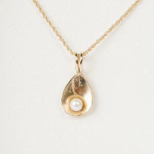 14k yellow gold cultured pearlC3-11