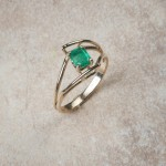 14k yellow gold emerald C3-55