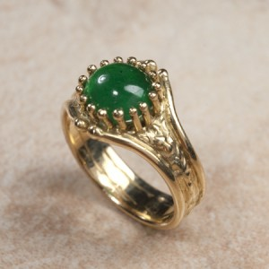 18k yellow gold emeraldC7-51