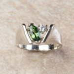 14k white gold chrome tourmaline and diamond C8-26