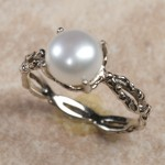 14k white gold pearlC8-71