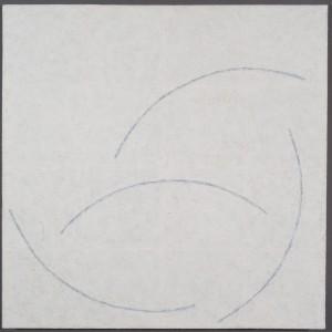 "Blue Nude 2014encaustic30x30"""