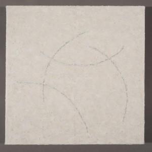 "Origami XXIPigment Stick, Cold Wax Medium, Acrylic on Canvas 14x14 ""2014"