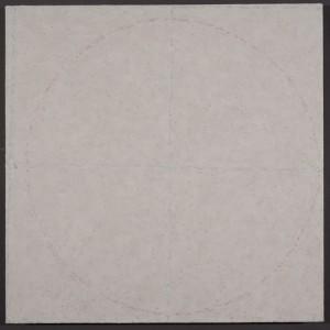 "Interior (After J.E.)pigment stick, cold wax medium, acrylic24x24"" 2015"