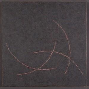 "Origami XXXpigment stick, cold wax medium, acrylic18x18"" 2015"